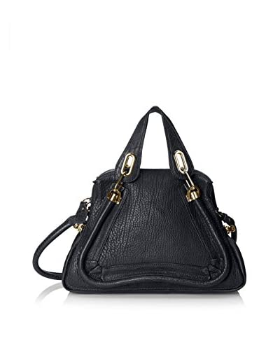 Chloe Women's Medium Paraty Shoulder Bag, Black