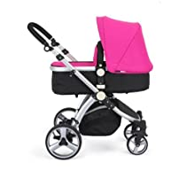 Hot Sale BLACK & PINK CARRERA SPORT 3-in-1 Baby Travel System/Pushchair/Pram/Stroller..