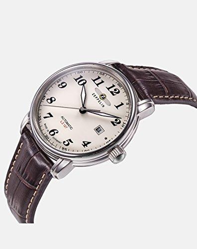 Zeppelin Herren-Armbanduhr XL LZ127 Graf Analog Automatik Leder 76565 2