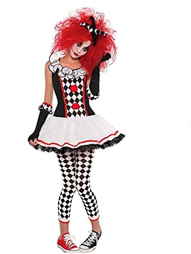 [NonEcho Women's Halloween Costume Sexy Harlequin Clown Outfit Kit Adult] (Le Belle Harlequin Adult Costumes)