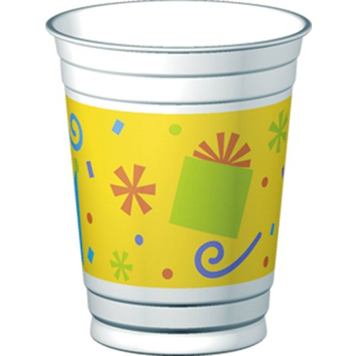 Birthday Fun Dots 14-oz Cups (8 per package)
