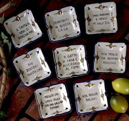 DERUTA Italian Proverb Trays (Set of 8 pieces - Assorted as shown) [Prod. Tray/SET] - Buy DERUTA Italian Proverb Trays (Set of 8 pieces - Assorted as shown) [Prod. Tray/SET] - Purchase DERUTA Italian Proverb Trays (Set of 8 pieces - Assorted as shown) [Prod. Tray/SET] (Artistica, Home & Garden, Categories, Kitchen & Dining, Tableware)