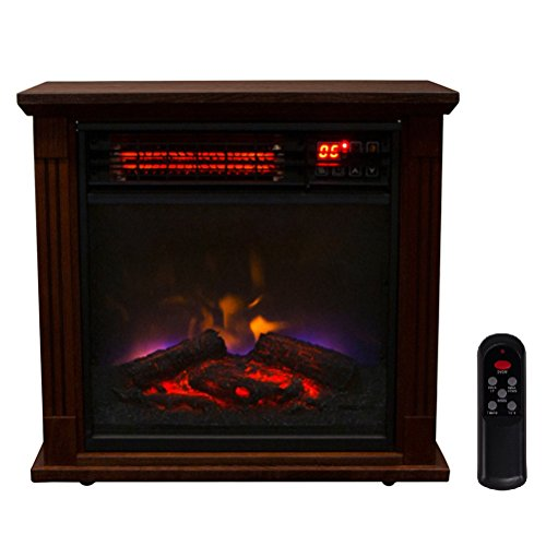 Promotion 1500W Embedded Insert Electric Quartz Infrared Fireplace Heater Flame Logs W/ Remote Control (269 sq.ft) (Infrared Heater 600w compare prices)