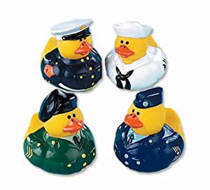 Fun Express Armed Forces Rubber Duck Party Favors Set (12 Piece)