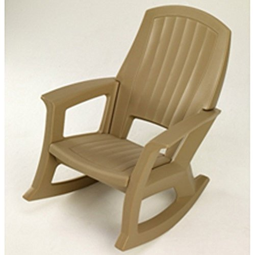 Taupe Outdoor Rocking Chair 600 Lb Capacity Furniture
