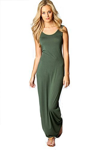 Urparcel-Women-Summer-Dress-2014-Tank-Top-Ankle-Length-Long-Maxi-Dress-Ladies-Celebrity-Party-Casual-Dress-Vestidos-L-Army-Green