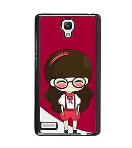 printtech Cute Girl Back Case Cover for Xiaomi Redmi Note::Xiaomi Redmi Note 4G