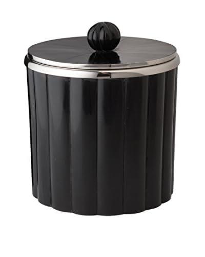 Artistic Horn Rod Pattern Ice Bucket, Black