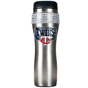 MLB Minnesota Twins 16-Ounce Stainless Steel Bling Tumbler by Great American Products