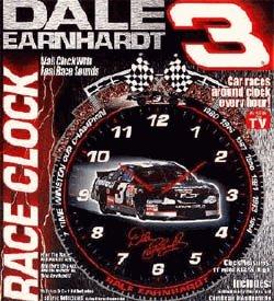 Dale Earnhadrt Wall Clock by Dale+Earnhardt