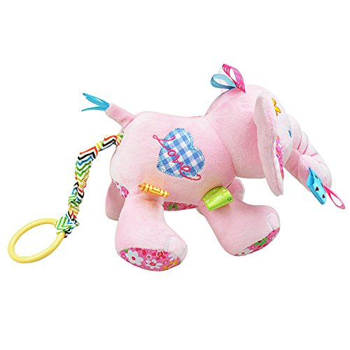 babyprice elephant musical doll developmental toy cotton material pink baby toys zone. Black Bedroom Furniture Sets. Home Design Ideas