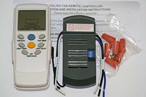 Universal Thermostatic Ceiling Fan and Light Remote Control Conversion Kit (Hunter Remote Control Ceiling Fan compare prices)