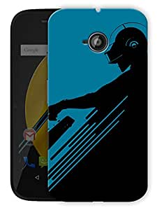 "Daft Punk Minimal Printed Designer Mobile Back Cover For ""Motorola Moto E"" By Humor Gang (3D, Matte Finish, Premium Quality, Protective Snap On Slim Hard Phone Case, Multi Color)"