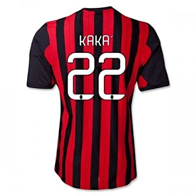 #22 KAKA AC Milan Home 2013-14 Kid Soccer Jersey & Matching Short Set (Youth L (10 - 12  Years Old))