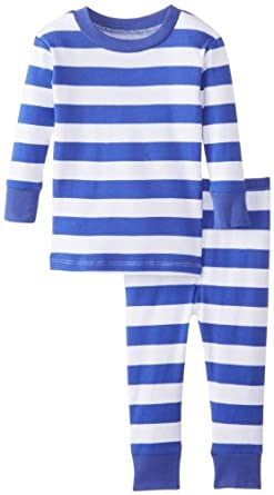 Amazon New Jammies Baby Boys Blue White Stripes