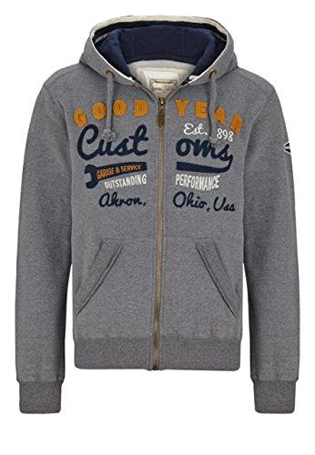 Goodyear felpa giacca con cappuccio knowville Men Zips-Marl Grey nuovo S-XXL Multicolore multicolore