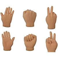 The Gags Finger Hands Rock Paper Scissors Game Set Of 6 Hands 2 Of Each Tiny Finger Hand