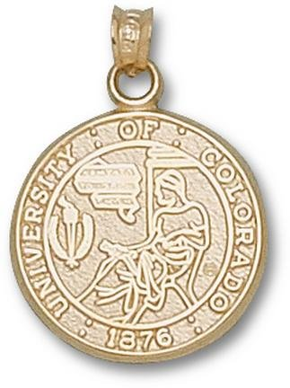 Colorado Buffaloes Seal Pendant - 14KT Gold Jewelry by Logo Art