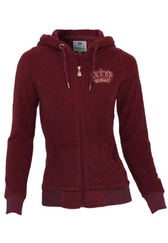 Sublevel Fleece jacket with hood, Größe:M;Farbe:Dark Red