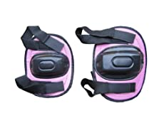 JUNIOR PINK KIDS SAFETY ELBOW & KNEE PADS PROTECTIVE GUARDS MEDIUM