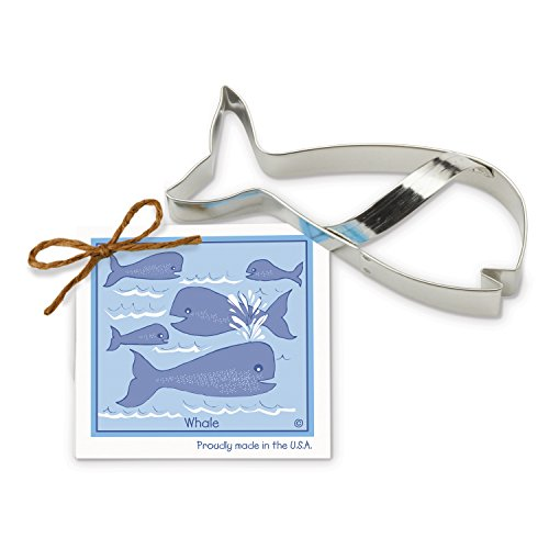 Whale Cookie and Fondant Cutter - Ann Clark - 5.6 Inches - US Tin Plated Steel (Beach Themed Cookie Cutters compare prices)
