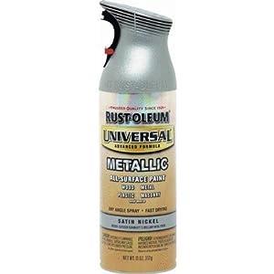 RUST-OLEUM 249130 12-Ounce  Satin Nickel Metallic Spray Paint