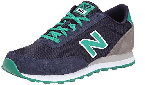 New Balance Men'S Ml501 Core Collection Classic Running Shoe, Navy/Green, 11 D Us