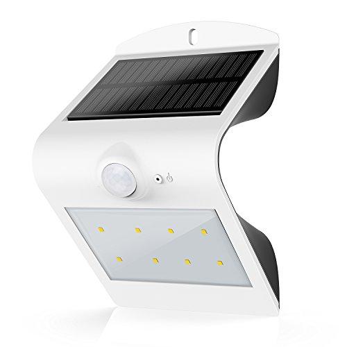Honesteast Solar Light, Solar Powered Security Lighting Motion Sensor Outdoor for Garden Patio Deck Fence Exterior Wall(White) (Outdoor Wall Solar Lights compare prices)