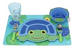 Melissa & Doug Scootin' Turtle Mealtime Set