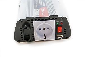 DC/AC Spannungswandler 12V auf 230V 300W / 600W Inverter KFZ Wechselrichter USB from edi-tronic