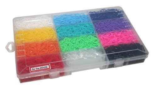 Funky Loomz Bundle Kit & C-Clips Collection with 6600 Bandz +275 C-clips 11 Beautiful Colors and Great Storage Case.