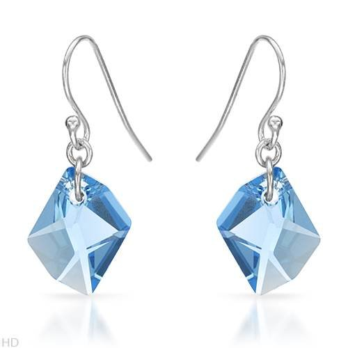 Earrings With 26.80ctw Cubic zirconia Beautifully Crafted in 925 Sterling silver Length 30mm