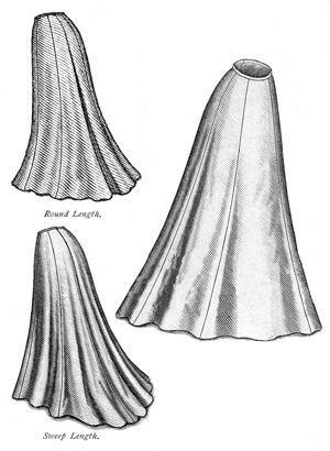 Edwardian Style Skirts 1903 Edwardian Era Trumpet Skirt Pattern                               $15.90 AT vintagedancer.com