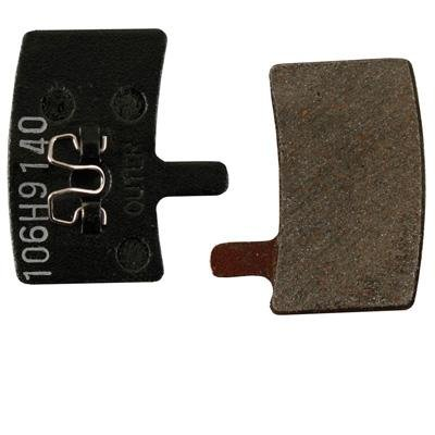 Image of Hayes Semi-Metallic Aluminum Back Mountain Bicycle Disc Brake Pads - Pair - Stoker - 98-23644 (B0051MB5TM)