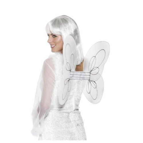 Smiffy's Fancy Dress Costume - Angel Wings - White - 1
