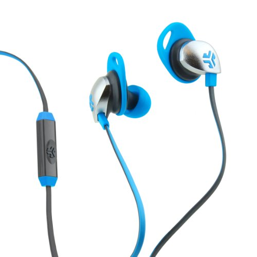Jlab Jbuds Epic Earbuds With 13Mm C3 Massive Drivers And Customizable Cush Fins - Blue/Gray