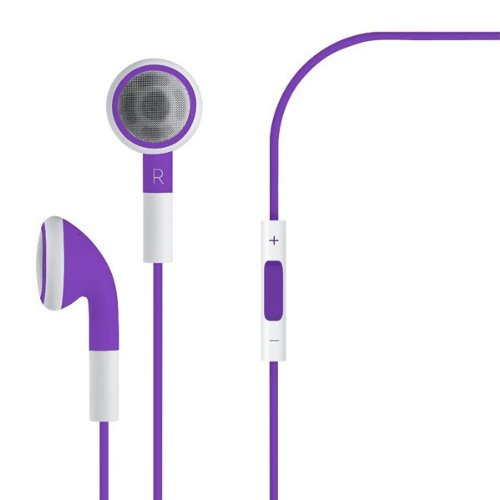 Bluesky Earphones Headset For Iphone,Earphones In Bulk,Best Fshion Earphones Iphone 5 4S 4G 3G 3Gs Ipod Touch Nano (Purple)