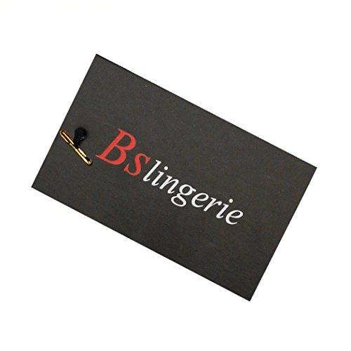 BSLINGERIE-Womens-Boned-Corset-With-Black-Brocade-Matching-Thong