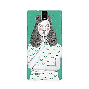 Mobicture Girl Abstract Premium Designer Mobile Back Case Cover For InFocus M330