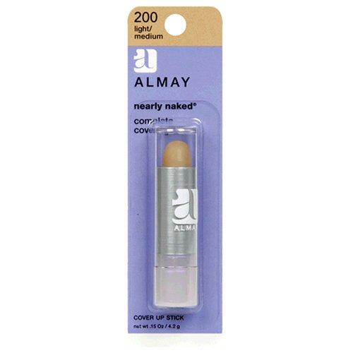 Almay Nearly Naked Cover Up Stick, Light/Medium 200, 0.15-Ou