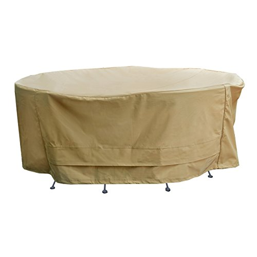 seasons sentry cvp01426 round table and chair set cover sand