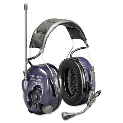 3M Mt53H7A4600 Peltor Powercom Hearing Protection Two-Way Radio Headset, 22 Channels