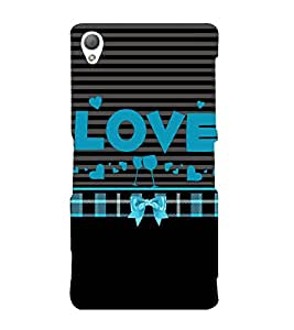 Love is Where You Party 3D Hard Polycarbonate Designer Back Case Cover for Sony Xperia Z3 :: Sony Xperia Z3 D6653 D6603