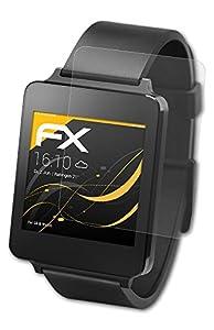 3 x atFoliX Screen Protection LG G Watch - FX-Antireflex anti-reflective