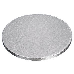 """9/"""" inch ROUND silver cake drum board 12mm thick"""