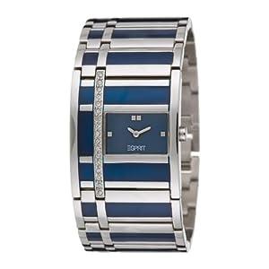 esprit damen armbanduhr filled vegas blue houston es101482001 uhren. Black Bedroom Furniture Sets. Home Design Ideas