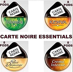 Tassimo Carte Noire 32 T-Discs: COLUMBIA, KENYA, PETIT DEJEUNER, CREMA INTENSO
