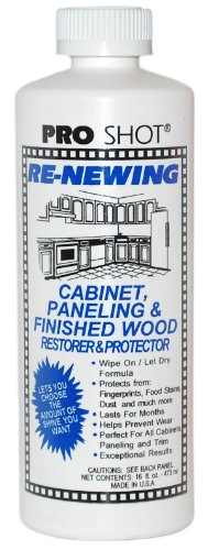 Pro Shot Industrial Re-Newing Cabinet Paneling and Finished Wood Restorer & Protector- 16-ounce bottle (covers approximately 300 square feet)