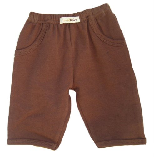 L'Ovedbaby Signature Pants, Brown 6-9 Months front-723570