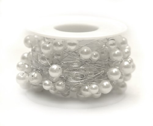 26 ft. Beaded Wire-white/silver (Oasis Beaded Wire compare prices)